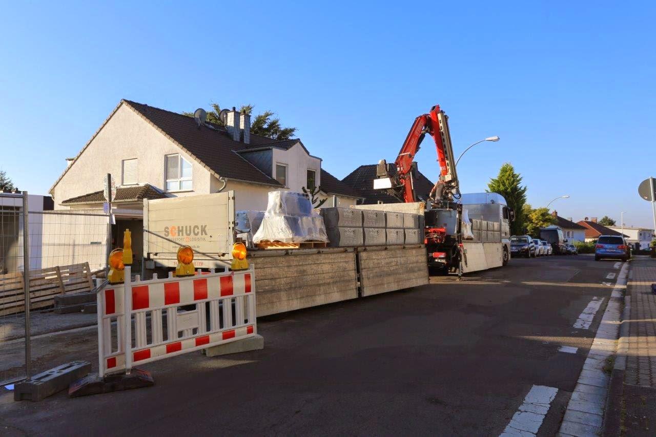 Ein Davinci Haus in Rhein-Main: Hausaufbau Tag 4