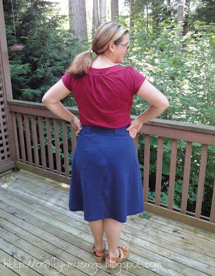 S4086, skirt, back view