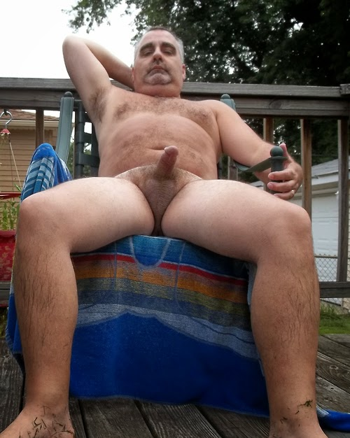 naked chubby guys with hard penis