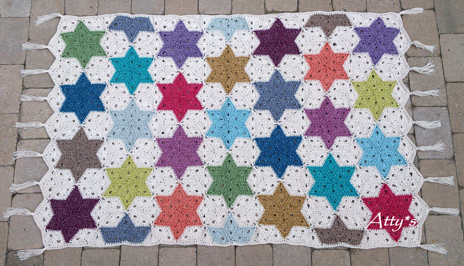 atty\'s: Finished Star Blanket