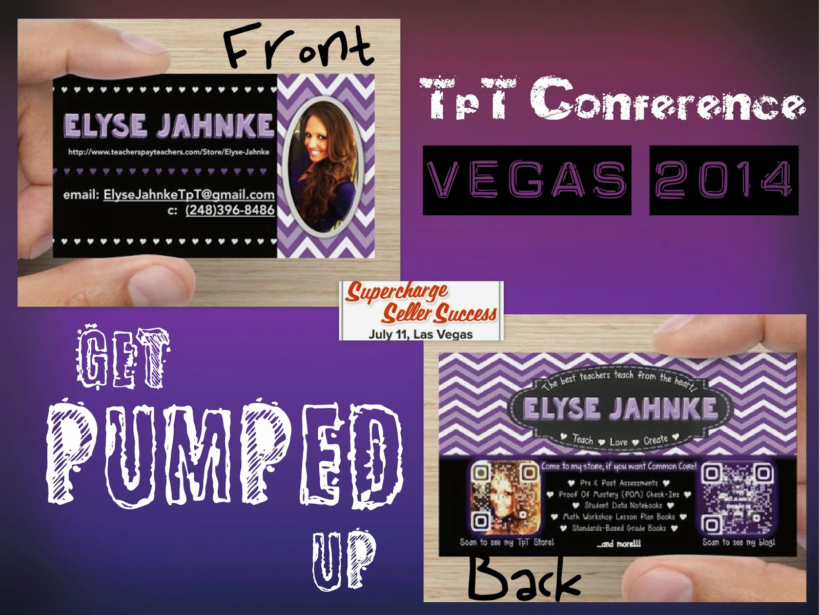 Teaching with heart and soul tpt conference vegas 2014 from following tpt teachers on instagram was the idea of making business cards i just made these on vistaprint i designed them on powerpoint reheart Image collections