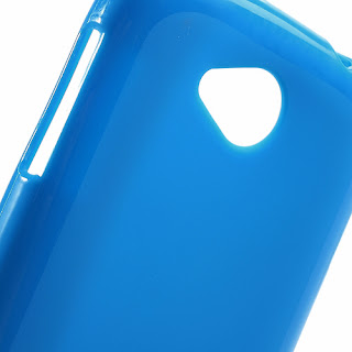 TPU Jelly Case with Matte Back Side for Lenovo A706 - Blue
