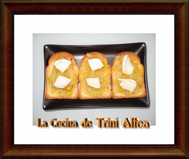 Canap s de cebolla a la naranja con queso de cabra for Canape queso de cabra