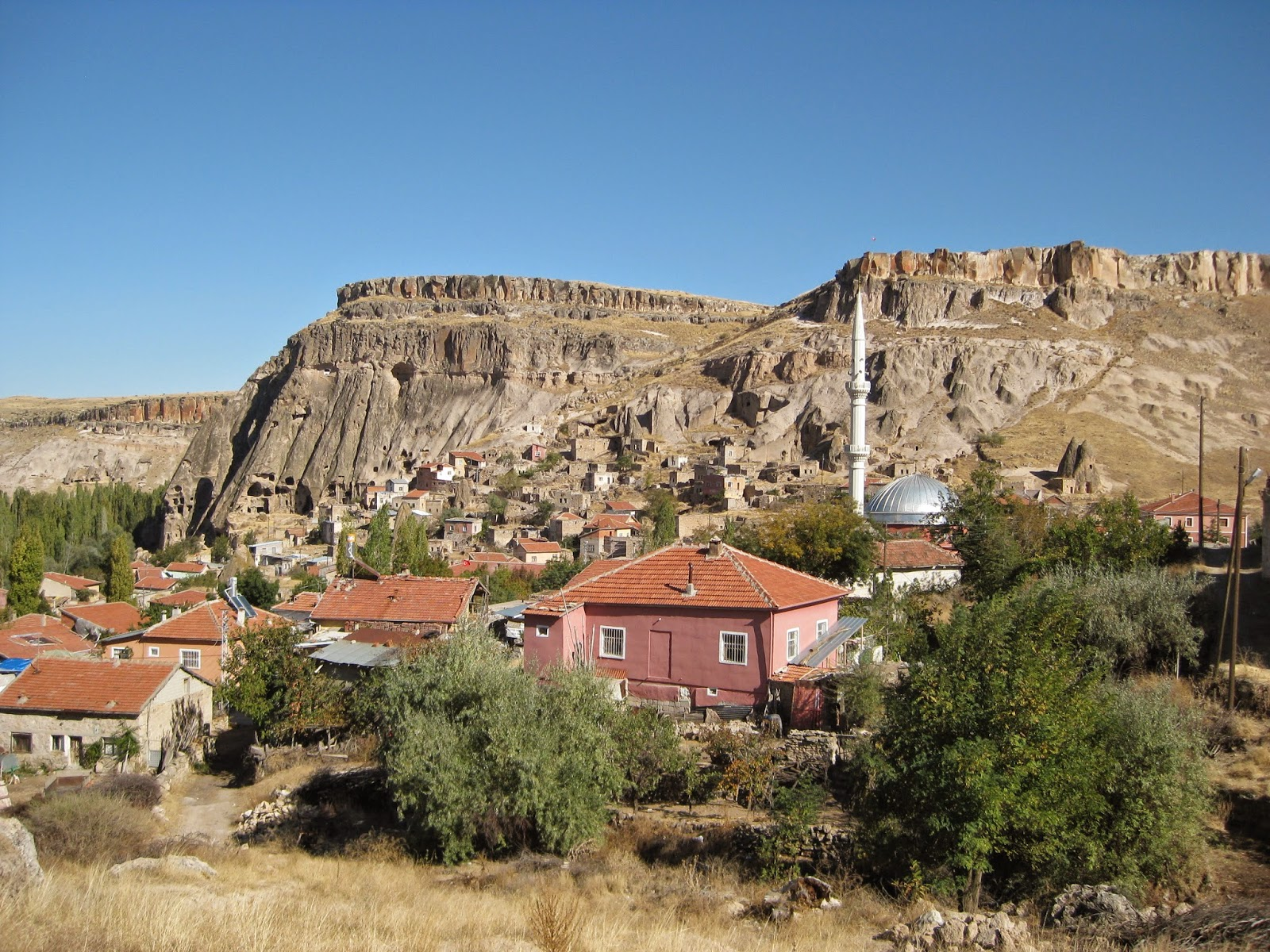 Cappadocia - Interesting view of a city among the rugged terrain