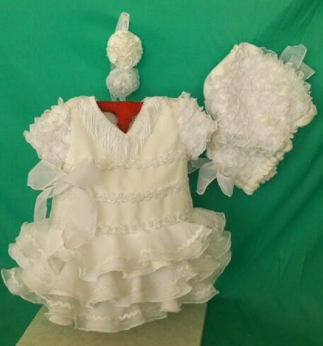 Traje de flamenca blanco nina