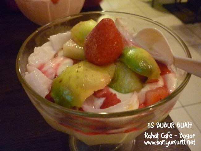 Kuliner Bogor - Es Bubur Buah, Rahat Cafe