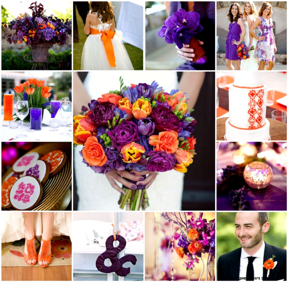1000 images about wedding color on Pinterest  Orange weddings