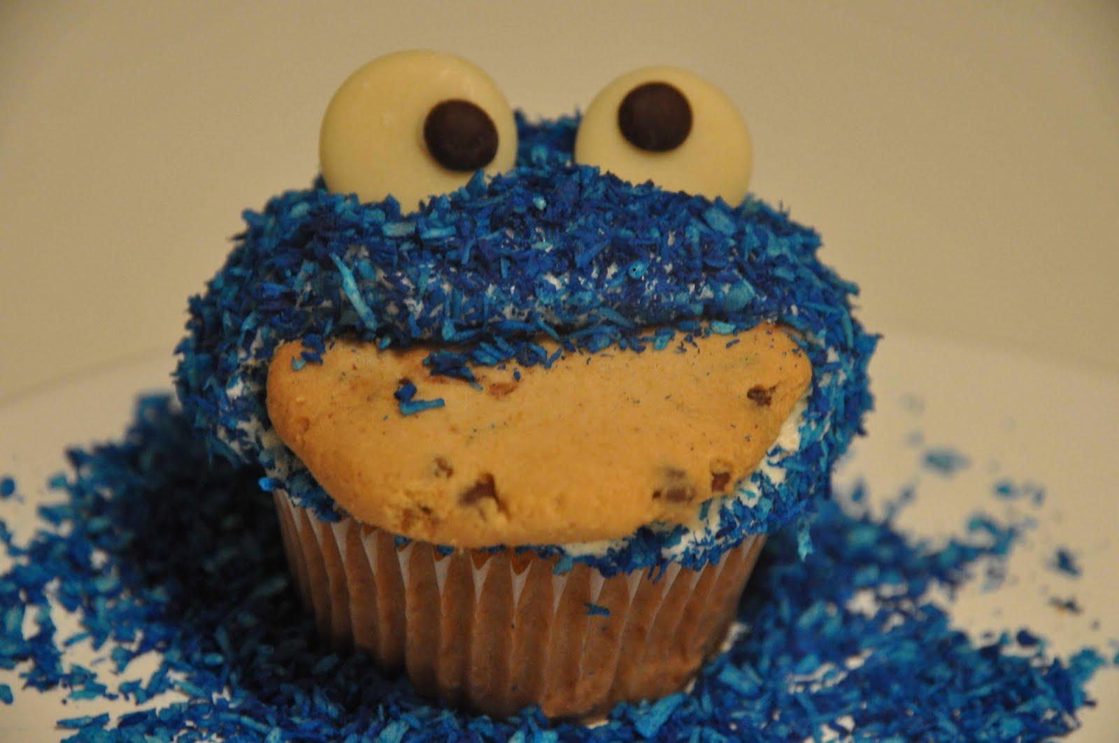 Vegan Impressions: Krümelmonster-Cupcakes