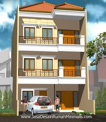 Desain Rumah Modern klasik 3 Lantai