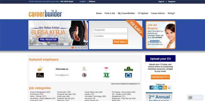 Situs Lowongan Kerja CareerBuilder
