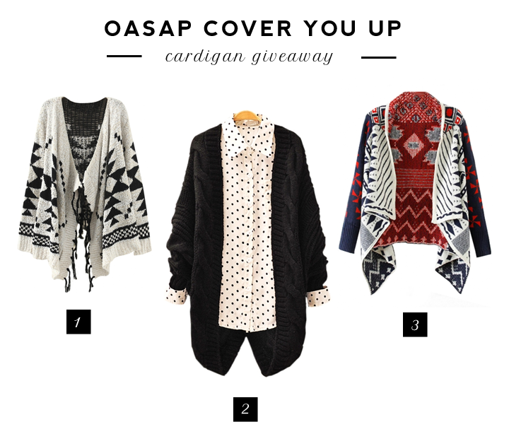 GIVEAWAY | OASAP CARDIGAN
