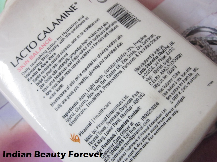 Lacto Calamine daily nourishing lotion for dry skin Review
