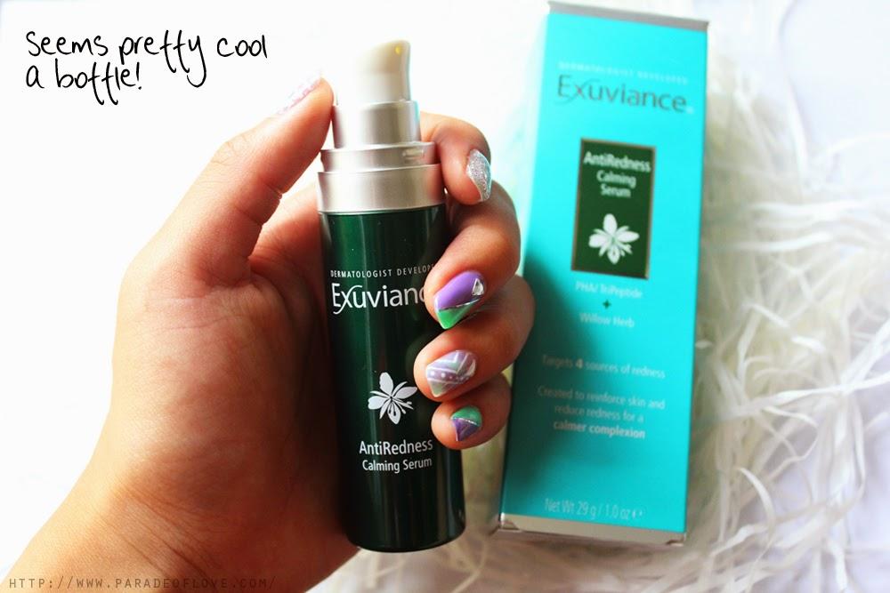 Exuviance antiredness calming serum recension