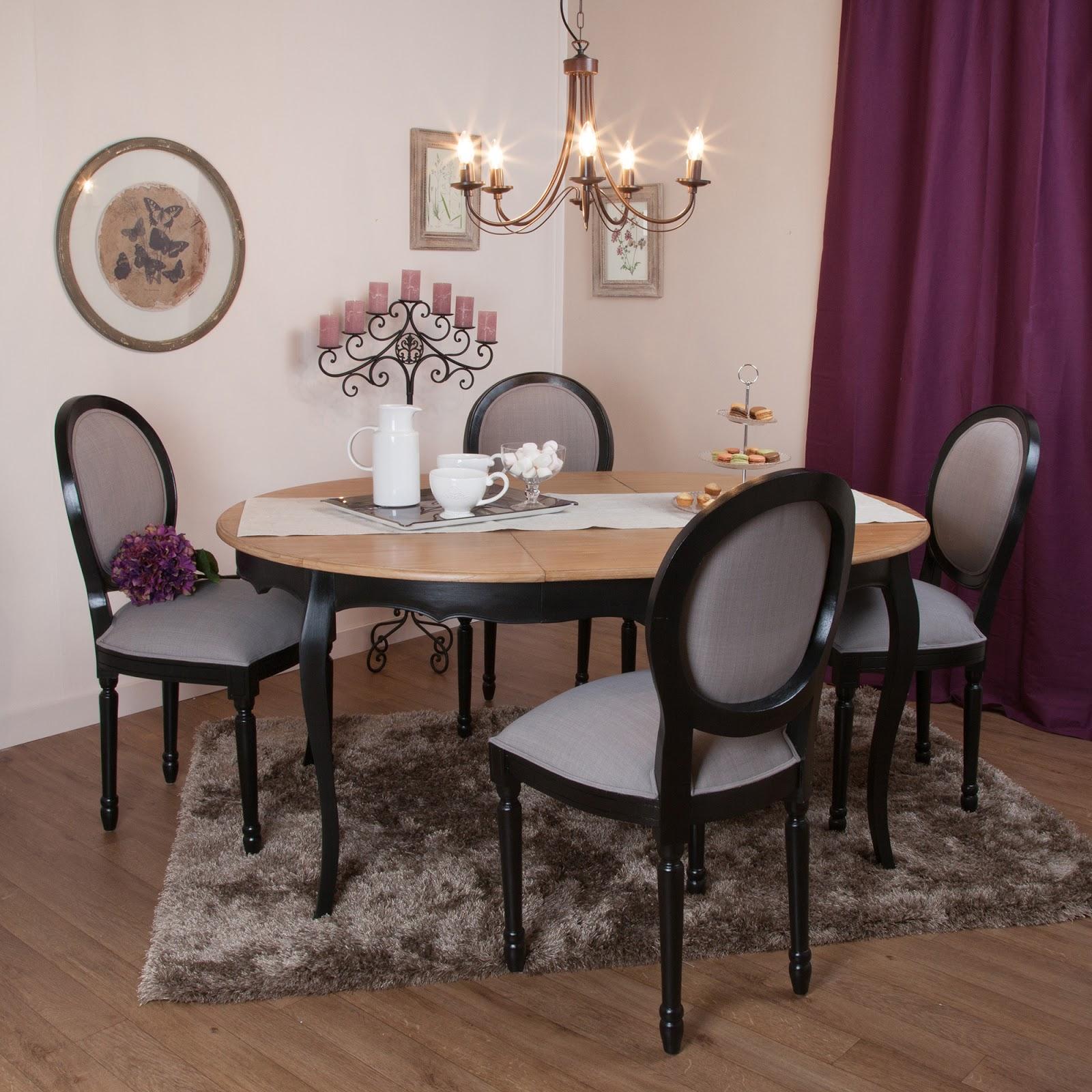 Salle manger compl te avec table ronde salle manger for Table salle manger art deco