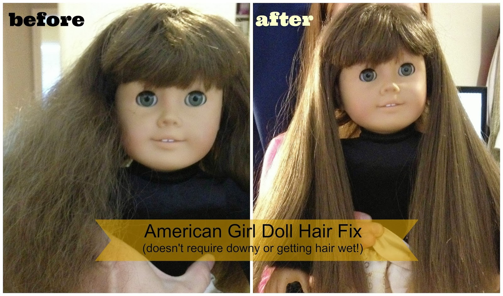 How To Fix American Girl Doll Hair A Tutorial With Beforeafter - American girl doll hairstyle ideas
