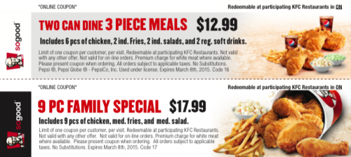 Printable coupons kentucky fried chicken