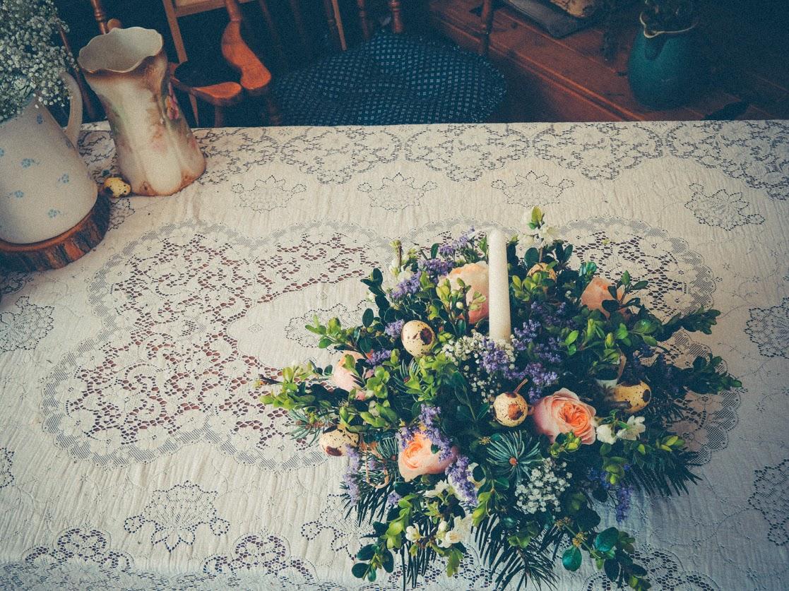 A handmade flower arrangement