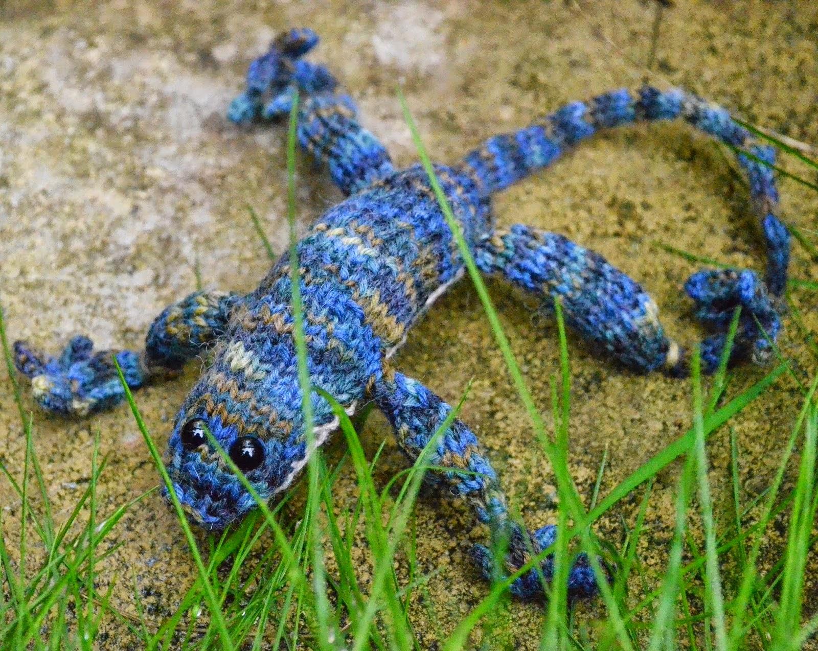 knitted lizard