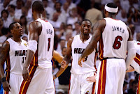 Miami Heat Team celebrating after winning the title