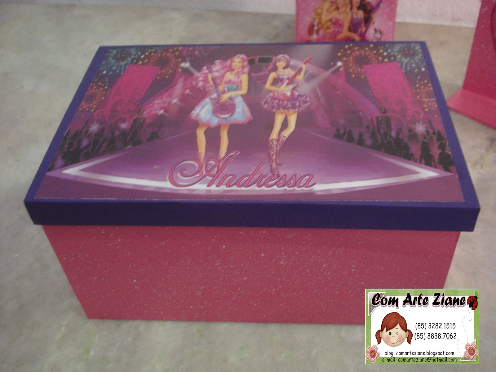Com Arte Ziane: KIT DE QUARTO BARBIE POP STAR #8B3B4E 1600 1200