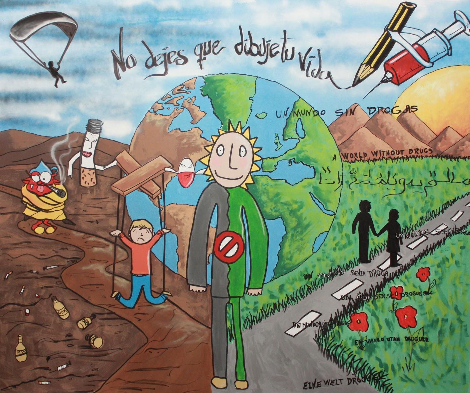 Ies las fuentes aula pt murales imagina sin drogas - Murales con fotos ...