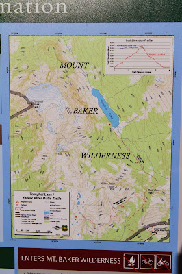 Map at Trailhead to Yellow Aster Butte and Tomyhoi La
