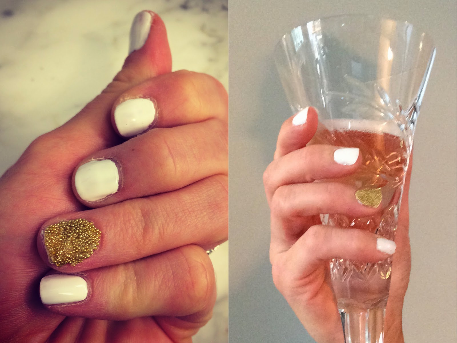 Diner en Blanc: Noktivo Manicure with Gold Caviar Accent