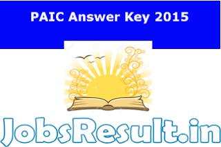 PAIC Answer Key 2015
