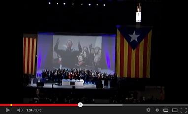 Històric Cant de la Senyera al Palau Sant Jordi (10-03-2012, constitució de l'ANC)