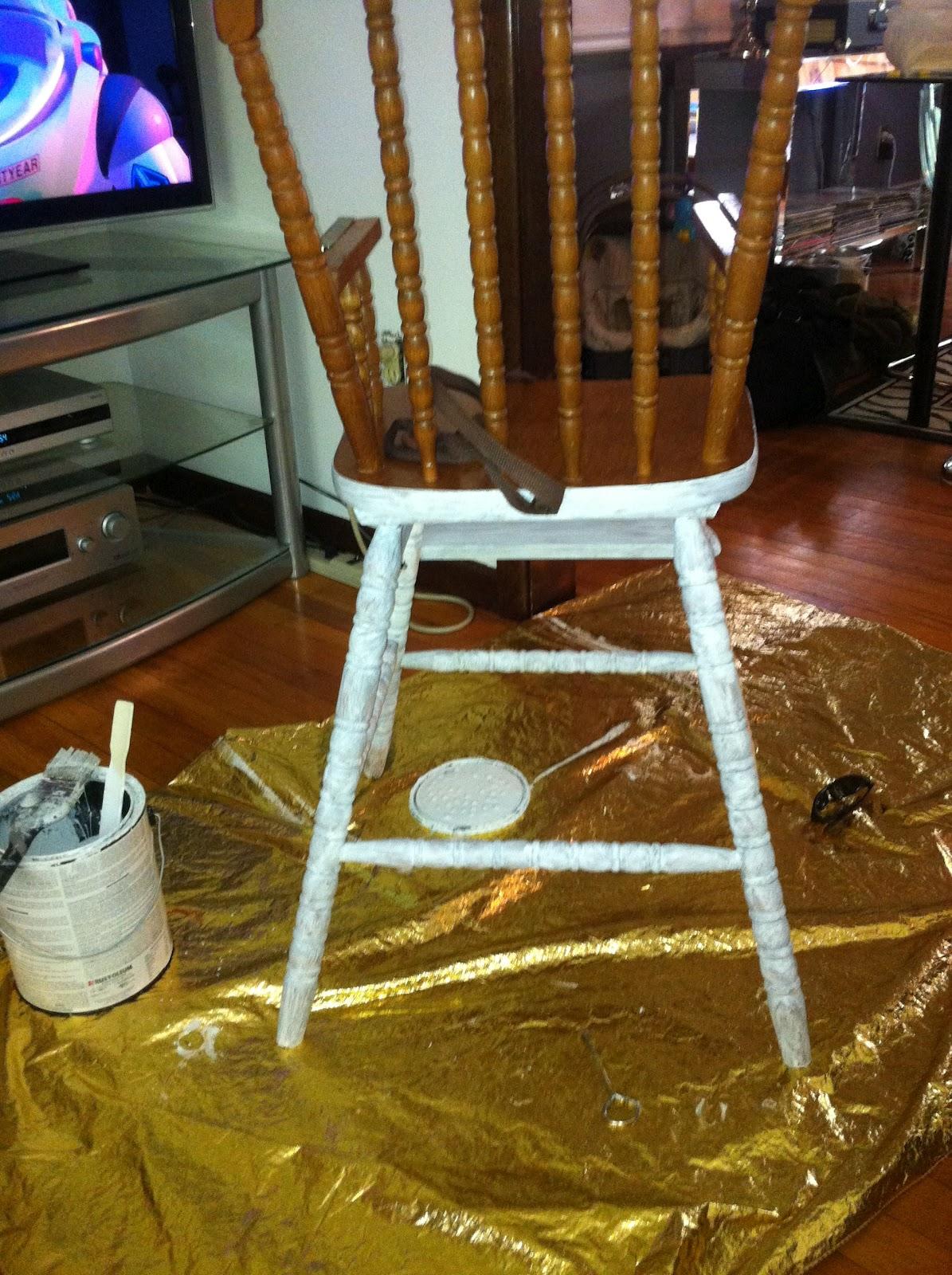 Decor4poor Highchair Makeover