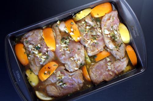Kitchen Trial and Error: citrus herb marinated roast chicken