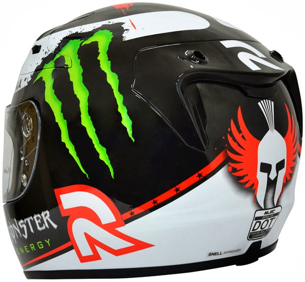 HJC Ben Spies III Replica Full Face Motorcycle Helmet