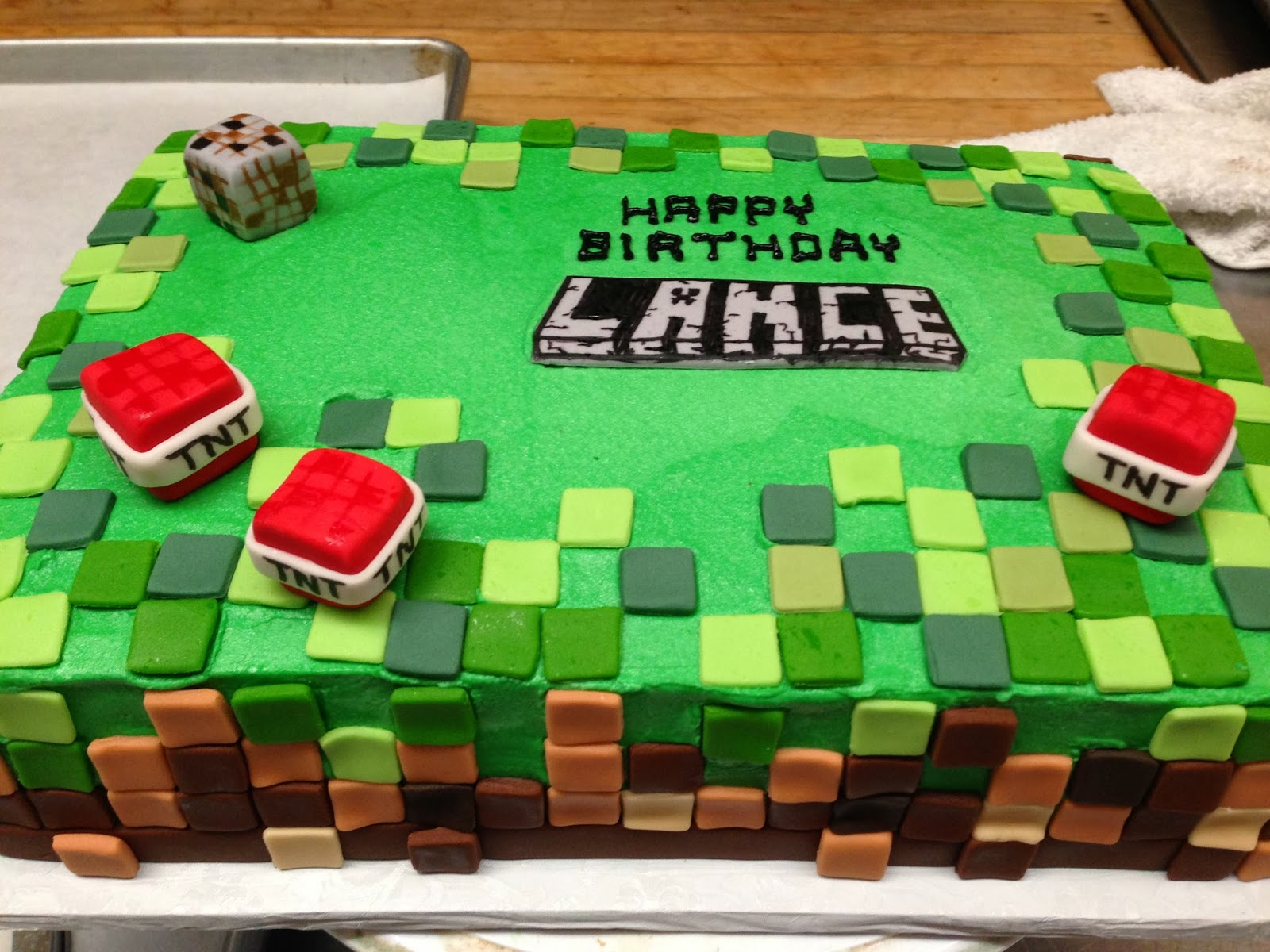 Minecraft Images For Cake : Buttercream Minecraft Cake images