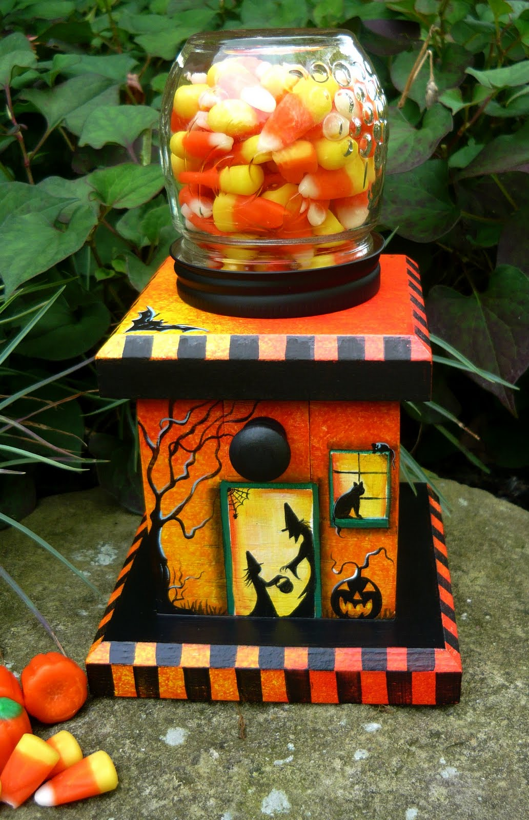 artistic halloween queens: ooak halloween candy dispenser~ on e-bay