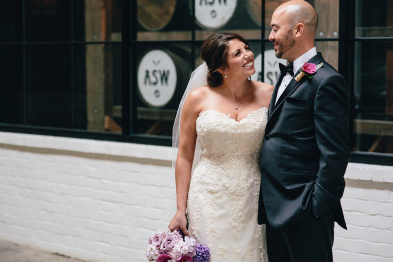 bride and groom at american spirit works