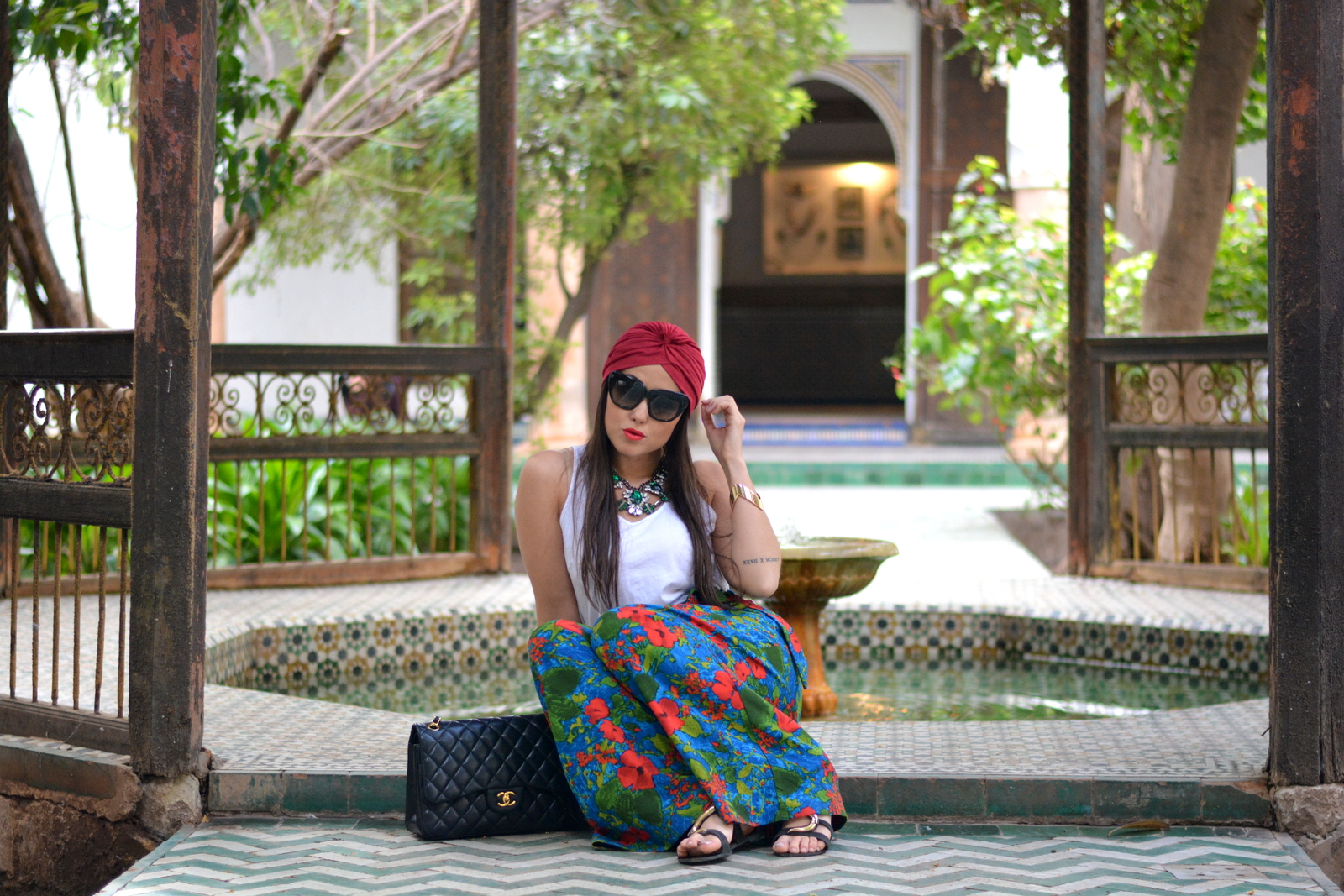 Jessica Neumann, Culture and Trend, outfit, Morocco, Chanel, Zara, Floral,
