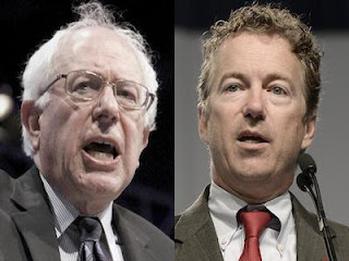 Bernie Sanders and Rand Paul