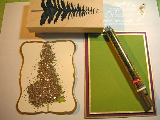 supplies forest pine card