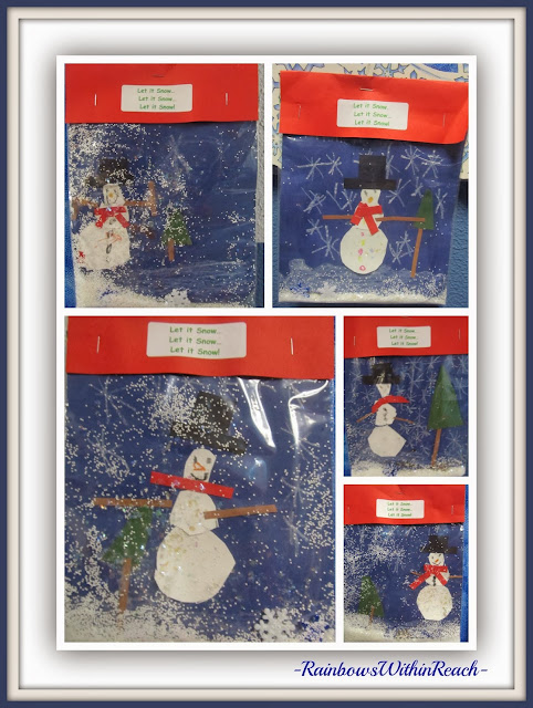 Snowmen in 'Snow Globe' Sandwich Bags via RainbowsWithinReach