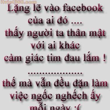 Những câu nói hay về tình yêu, vào Facebook của ai đó