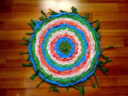 Cosas de inma como hacer una alfombra de unas camisetas for Alfombra en ingles como se escribe