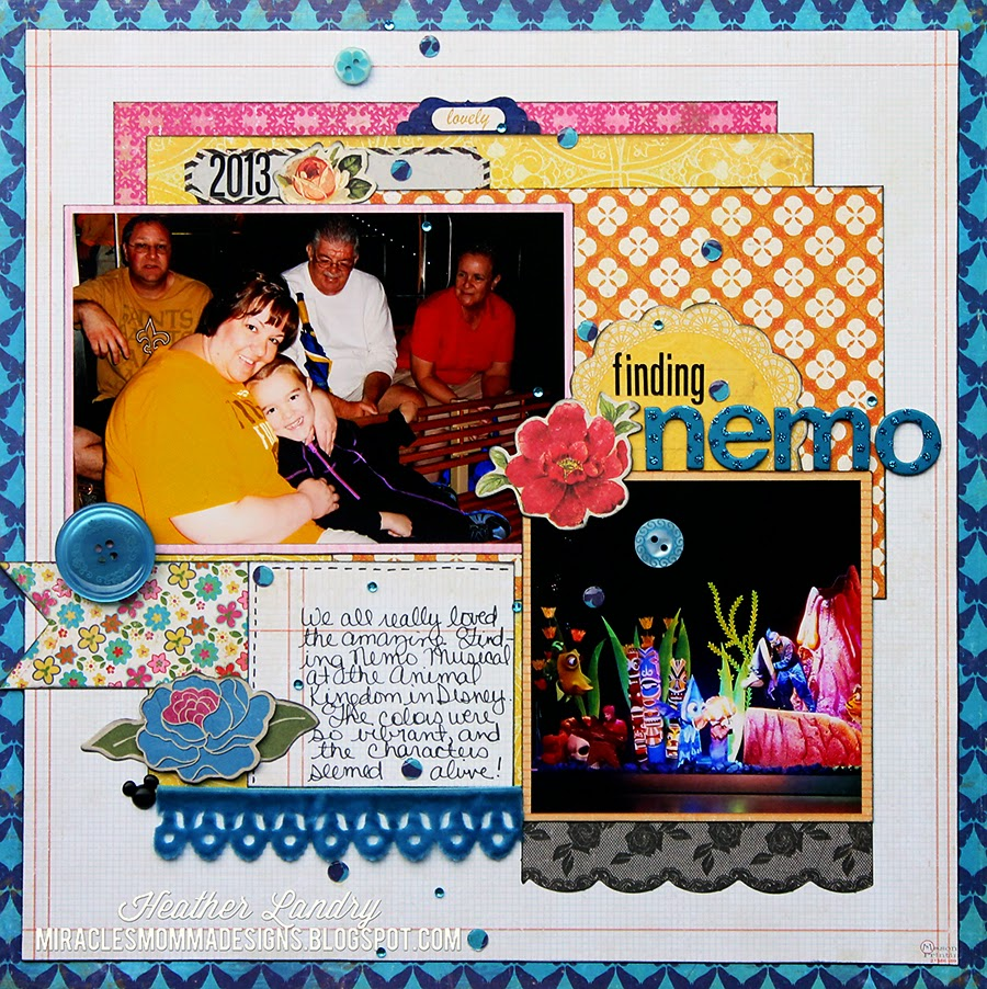 Finding Nemo_Scrapbook Page_Animal Kingdom_Disney