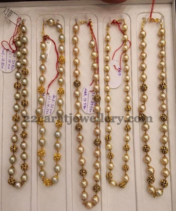Pearls Chains 12 To 24 Grams Jewellery Designs