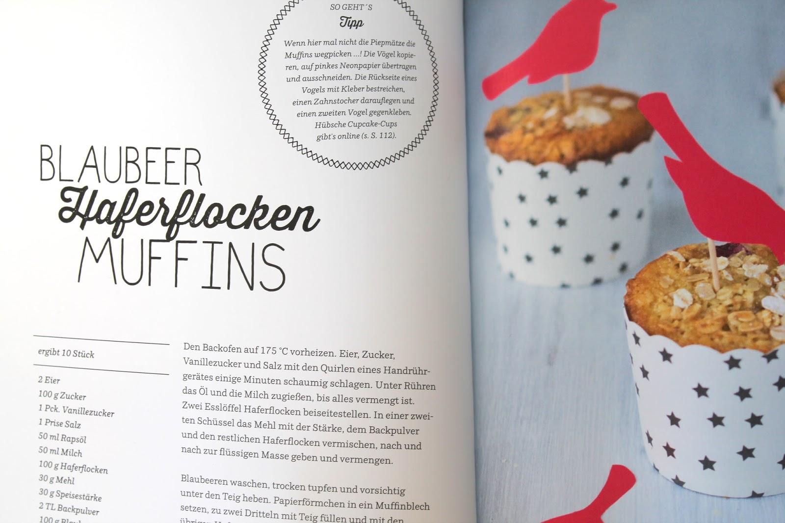 Rezept Blaubeer Haferflocken Muffins