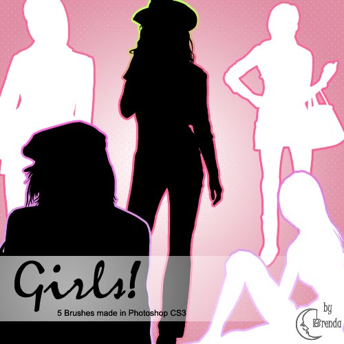 40+ Free Girls Silhouette Photoshop Brushes Download