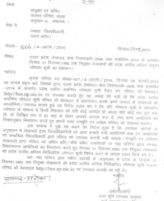 UP Lekhpal Promotion List 2015 for Rajaswa Nirikshak post