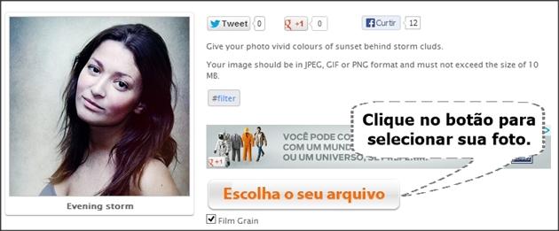 carregar imagem para o site