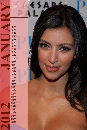 Kim Kardashian Desktop Calendar 2012 Photos