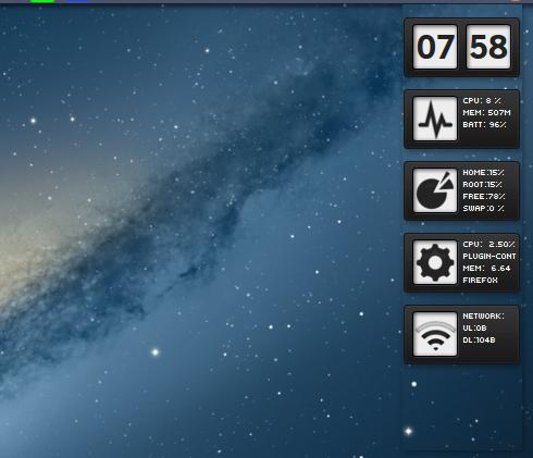 Conky Reloj For Linux Ubuntu