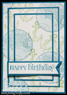 Triple Time Stamped Birthday Card featuring The Open Sea Stamps from Stampin' Up!  Designed by Bekka - www.feelling-crafty.co.uk